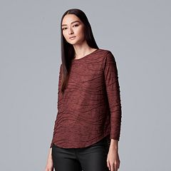 Petite Simply Vera Vera Wang Long Sleeve Tee