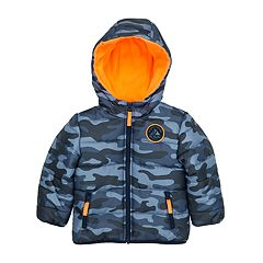 Toddler Boy Carter's Quilted Camo Hooded Heavyweight Jacket