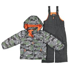 Toddler Boy OshKosh B'gosh® Camouflaged Hooded Heavyweight Jacket & Bib Snow Pants Set