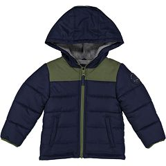Baby Boy Carter's Quilted Colorblock Hooded Heavyweight Jacket