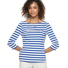 Women's POPSUGAR Striped Boatneck Top