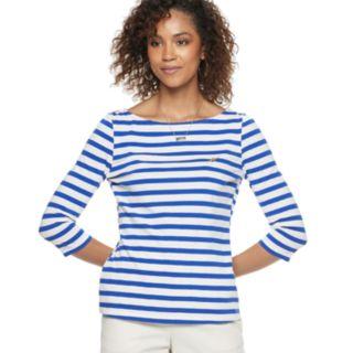 Women's POPSUGAR Striped Boatneck Top