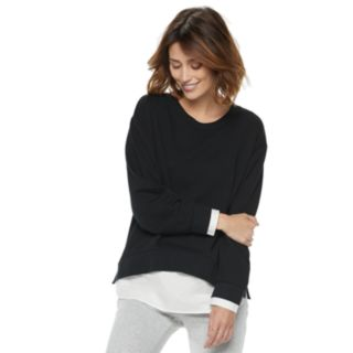 Women's POPSUGAR Mock-Layer Sweatshirt