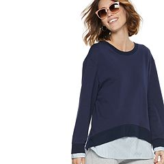 Women's POPSUGAR Mock-Layer Sweatshirt