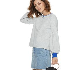 Women's POPSUGAR Colorblock Balloon-Sleeve Sweatshirt