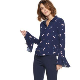 Women's POPSUGAR Flare-Sleeve Blouse