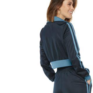 Women's POPSUGAR Side-Stripe Crop Athletic Jacket