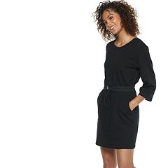 Women's POPSUGAR Drawstring French Terry Dress