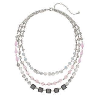 Bead Multi Strand Statement Necklace