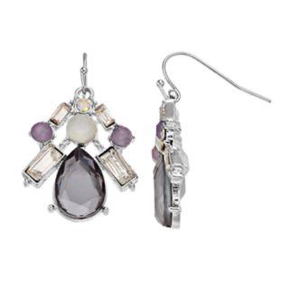 Purple & Gray Statement Earrings
