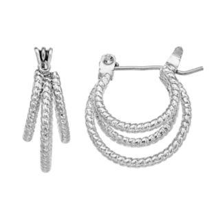 Twist Triple-Hoop Earrings