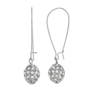 Simulated Crystal Ball Drop Earrings