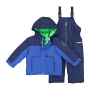 Baby Boy Carter's Colorblock Heavyweight Hooded Jacket & Bib Snow Pants Set