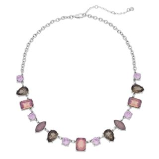 Simulated Crystal Short Statement Necklace