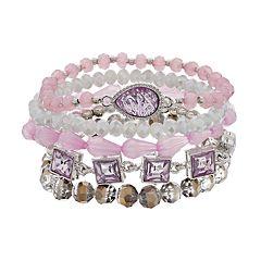 Purple Stretch Bracelet Set