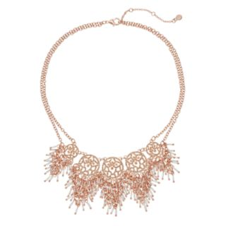 Shaky Double Strand Statement Necklace