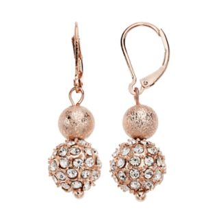 Simulated Crystal Ball Drop Earrings