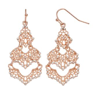 Simulated Crystal Statement Drop Earrings