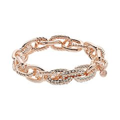 Chunky Textured Chain Link Stretch Bracelet
