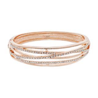 Simulated Crystal Crisscross Hinge Bracelet