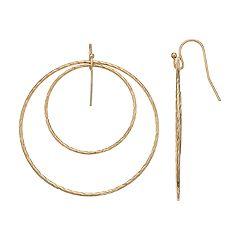 LC Lauren Conrad Textured Nickel Free Double Hoop Earrings