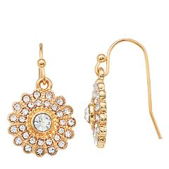 LC Lauren Conrad Simulated Crystal Nickel Free Burst Drop Earrings