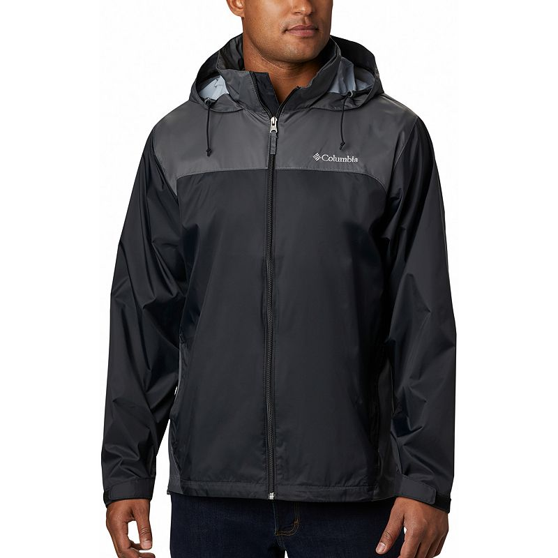 Men's Columbia Glennaker Packable Rain Jacket, Size: Large, Grey