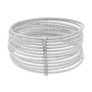 Textured Multi Row Bangle Bracelet