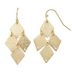 LC Lauren Conrad Textured Kite Drop Earrings