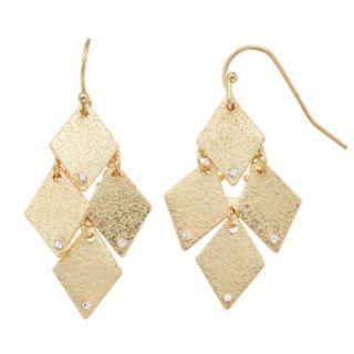 LC Lauren Conrad Textured Kite Drop Earrings