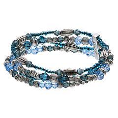 Napier Multi Colored Bead Multi Row Bracelet
