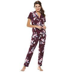 Women's Flora by Flora Nikrooz Floral Shirt & Pants Pajama Set