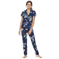Women's Flora by Flora Nikrooz Floral Shirt & Pants Pajama Set