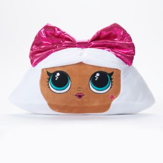 L.O.L. Surprise! Pink Bow Diva Throw Pillow