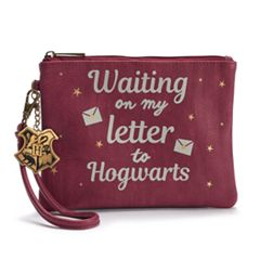 Harry Potter 'Waiting On My Letter To Hogwarts' Graphic Wristlet