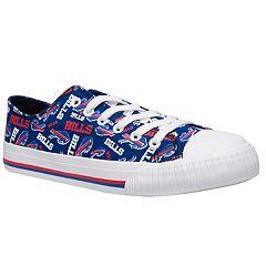 Women's Buffalo Bills Team Logo Canvas Shoes