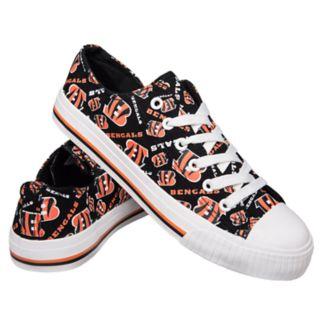 Women's Cincinnati Bengals Low-Top Canvas Shoes