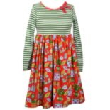 Girls 7-16 Bonnie Jean Christmas Striped Skater Dress with Bow