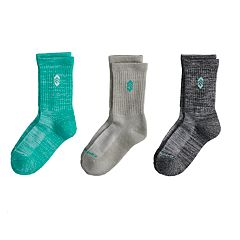 Girls 7-16 3-Pack Wool Crew Socks