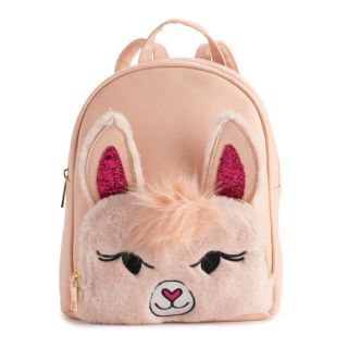 OMG Accessories Fuzzy Llama Mini Backpack
