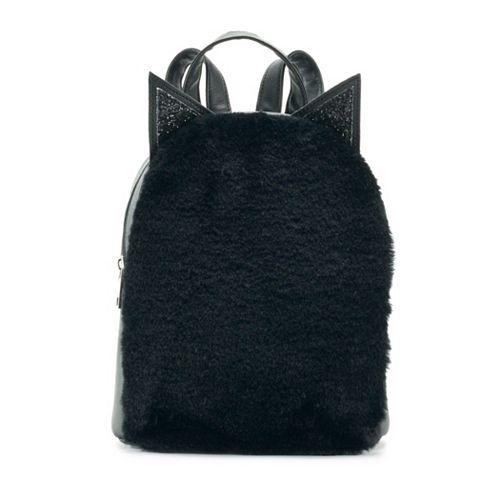 OMG Accessories Fuzzy Cat Mini Backpack