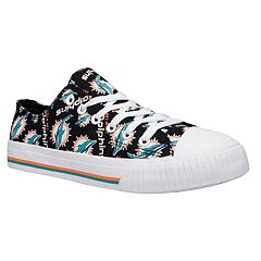 Women's Miami Dolphins Team Logo Canvas Shoes