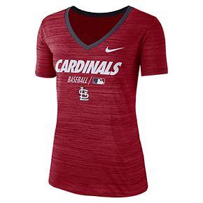 Women's Nike St. Louis Cardinals Dri-FIT Velocity Legend V-Neck Tee