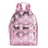 OMG Accessories Metallic Rainbow Unicorn Mini Backpack