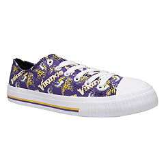 2e12367eaa5 Women s Minnesota Vikings Team Logo Canvas Shoes