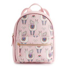 OMG Accessories Flying Rainbow Llama Unicorn Mini Backpack