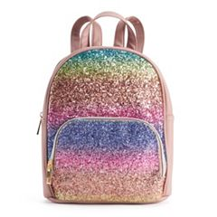 OMG Accessories  Rainbow Glitter Mini Backpack