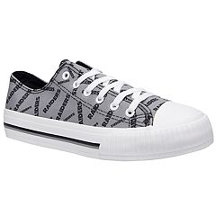 Women's Oakland Raiders Team Logo Canvas Shoes