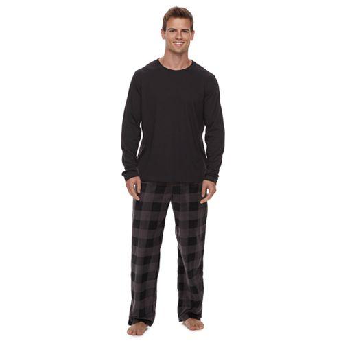 Men's Sleep Top & Microfleece Sleep Pants Set