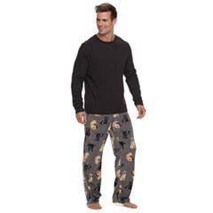 Men's Top & Microfleece Lounge Pants Set